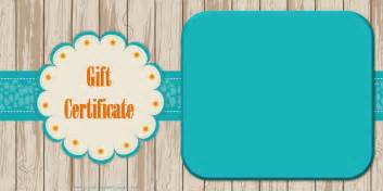 gift card template word printable gift certificate templates