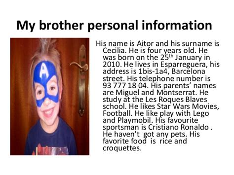 My Personal my personal information