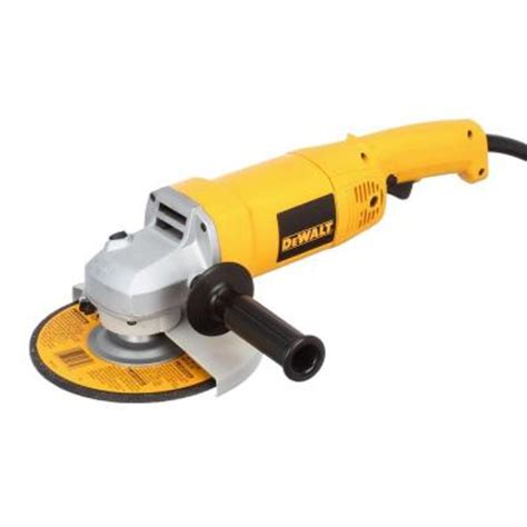 dewalt 13 7 in heavy duty angle grinder with bag and
