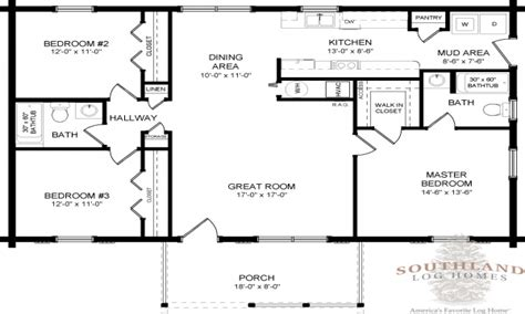 Single Home Floor Plans Wide Log Mobile Home Single Story Log Home Floor