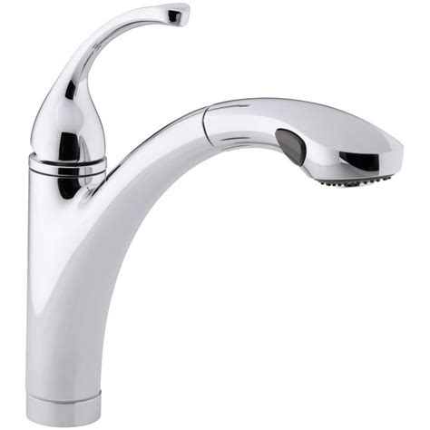 kohler forte single handle pull out sprayer kitchen faucet
