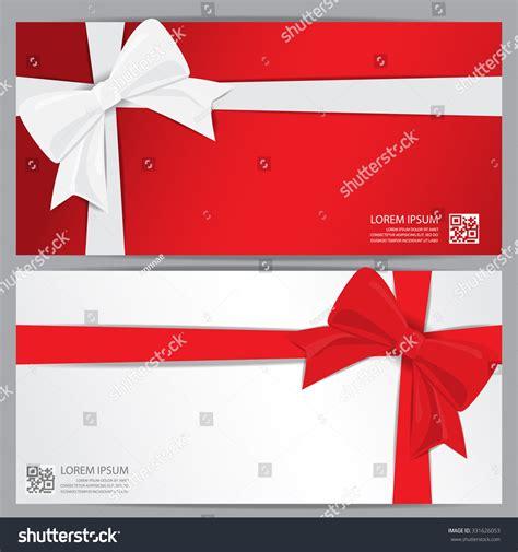 new year gift voucher new year gift voucher stock vector