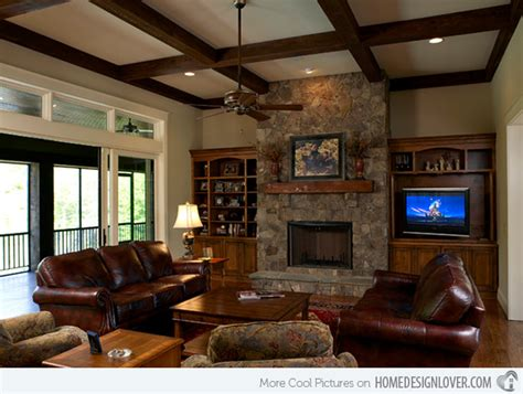 Craftsman Living Room by 15 Warm Craftsman Living Room Designs Decoration For House