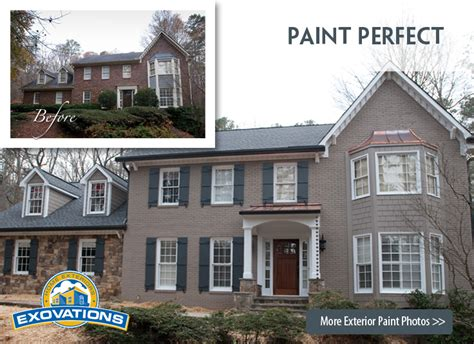 exterior brick paint before and after house painting home exterior painting epa certified