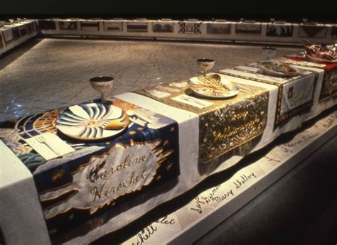 judy chicago the dinner 1979 the dinner is an installation artwork by feminist