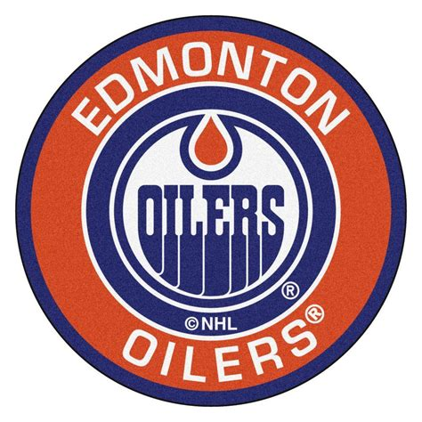 Edmonton Oilers Logo Outline by Fanmats Nhl Edmonton Oilers Orange 2 Ft 3 In X 2 Ft 3 In Accent Rug 18872 The Home Depot