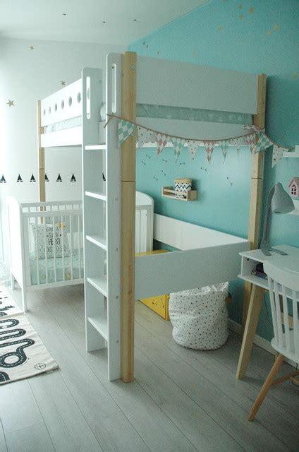 chambre enfant mixte 2 ans et 8 ans scandinave