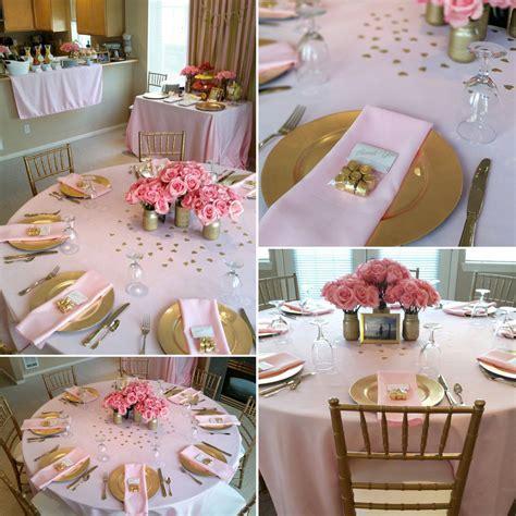 Pink & Gold Shower   I like the gold Rolos!!   Wedding