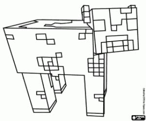 minecraft mooshroom coloring page disegni di minecraft da colorare e stare 2