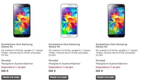 iphone 5 corte ingles precio el corte ingl 233 s pone precio al samsung galaxy s5 en espa 241 a