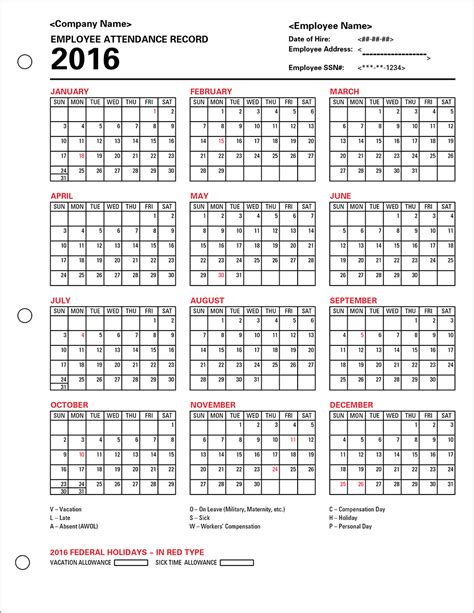Cmc Academic Calendar Employee Vacation Calendar 2016 2016 Car Release Date