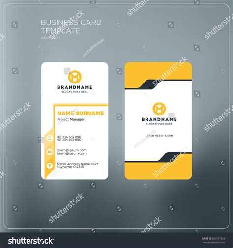 horizontal cards templates best of photos of horizontal business card template