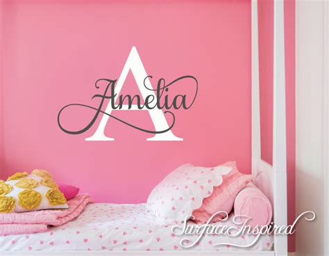 sticker names for walls nursery wall decal personalized names wall decals for