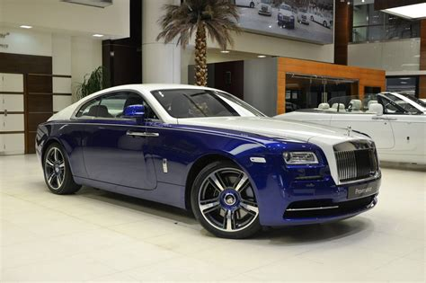 rolls royce white wraith blue and white rolls royce wraith is bespoke to its core