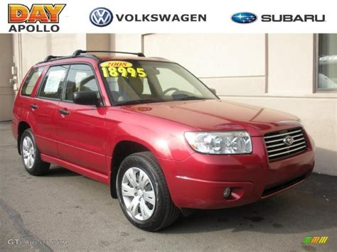 red subaru forester 2008 garnet red pearl subaru forester 2 5 x 28402779