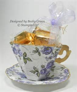 How To Make Paper Tea Cups - paper tea cup and saucer by becky green stin up punch
