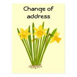 Change Of Address Postcard Template by Daffodils Change Of Address Postcard Template Zazzle