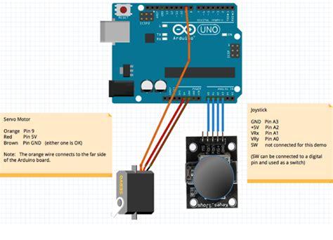 tutorial arduino joystick how to control single servo motor by joystick arduino