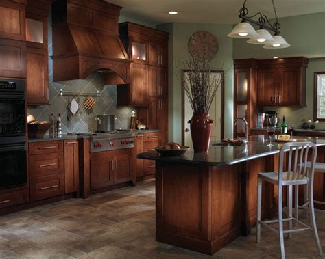 Yorktowne Kitchen Cabinets Maple Cabinets Blended With Stainless Steel Appliances And