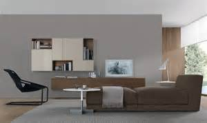 home interior design with modern open wall system shelves
