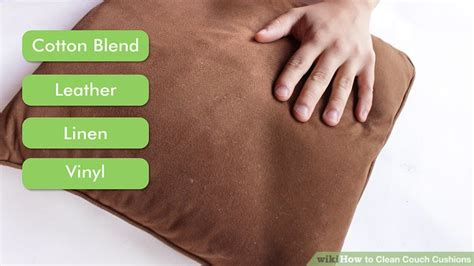 clean couch cushion 4 ways to clean couch cushions wikihow