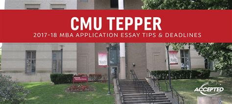 Tepper Mba Guide by Cmu Tepper Mba Application Essay Tips Deadlines