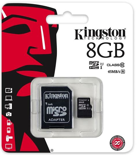 Micro Sd 8 Gb Kingston Class 10 kingston microsdhc 8gb geheugenkaart adapter class 10
