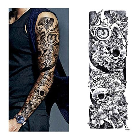 full hand tattoo price aliexpress com buy temporary tattoo sleeve designs full