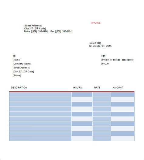 graphic design invoice templates 8 free word excel