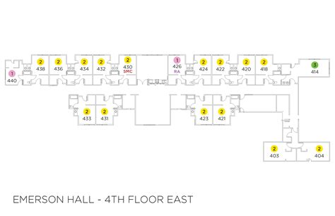 emerson floor plan emerson hall floor plans residence life