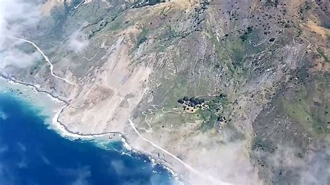 Landslide On Pch - landslide buries california s scenic highway near big sur