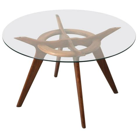 glass walnut dining table walnut and glass dining table by adrian pearsall for sale at 1stdibs