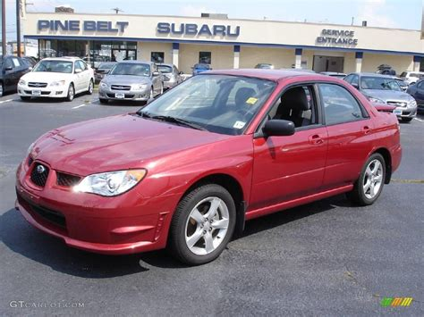 red subaru sedan 2007 garnet red pearl subaru impreza 2 5i sedan 13737347