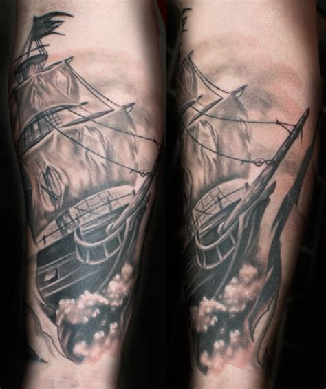 pirate ship sleeve tattoo designs pirate tattoos page 4