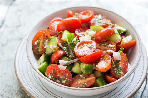 Greek Pasta Salad tomato cucumber feta salad recipe simplyrecipes com
