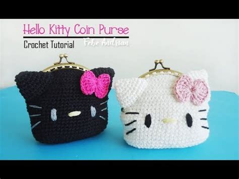 Bag Hello Rajut crochet tutorial rajut dompet koin hello