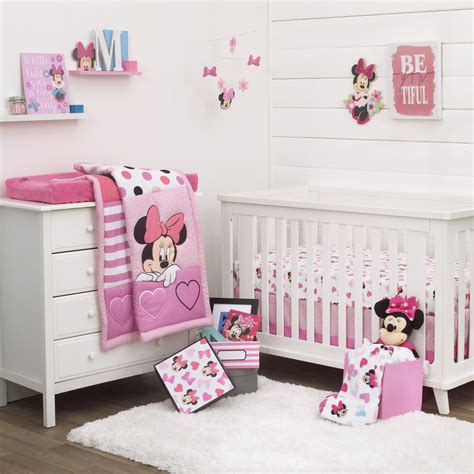 minnie mouse crib bedding nursery set disney minnie mouse dots 3 baby crib bedding set see details ebay