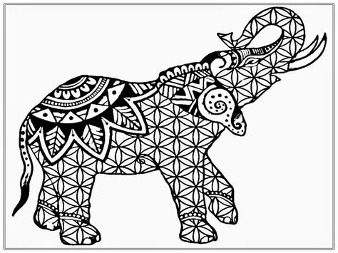 coloring pages for adults free coloring pages free elephant realistic