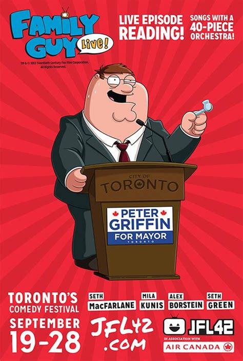 aziz ansari just for laughs vancouver peter griffin runs for mayor of toronto smokes crack in