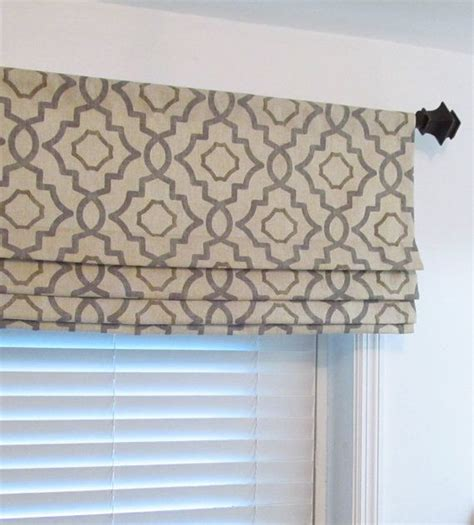 modern valance modern faux roman shade colors include grey beige and