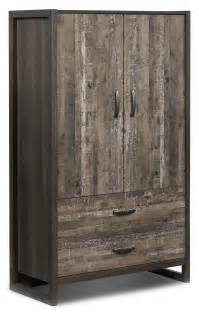 hudson armoire rustic brown s