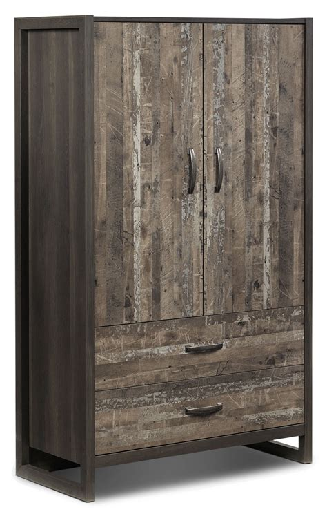 hudson armoire hudson armoire rustic brown leon s