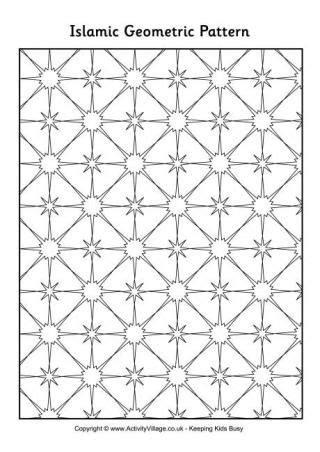 islamic pattern printable islamic geometric pattern 2 eid theme pinterest