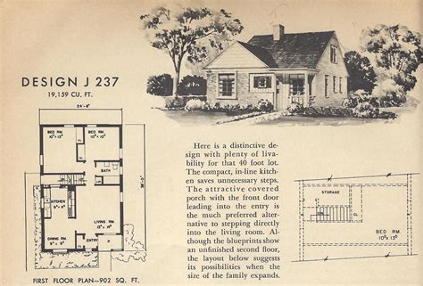 vintage house blueprints vintage house plans j237 antique alter ego