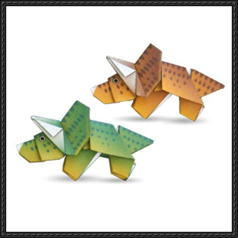 paper craft canon canon papercraft triceratop dinosaur origami free