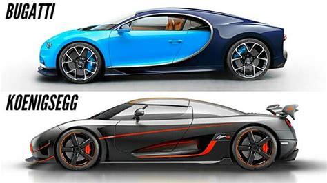 koenigsegg bugatti koenigsegg agera rs vs bugatti chiron battle of blazing speed