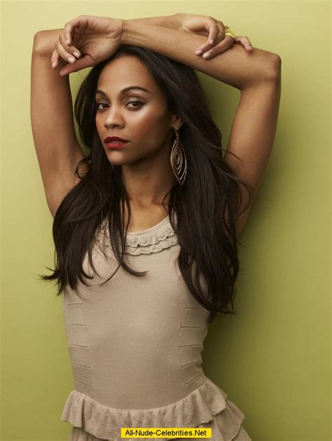 From A To Zoe by Zoe Saldana Posing Scans From Magazines