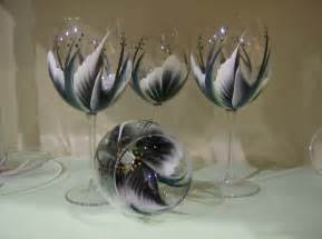 Items similar to hand painted black wine glasses on etsy