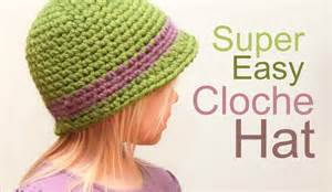Crochet for free super easy cloche hat with brim size baby to adult