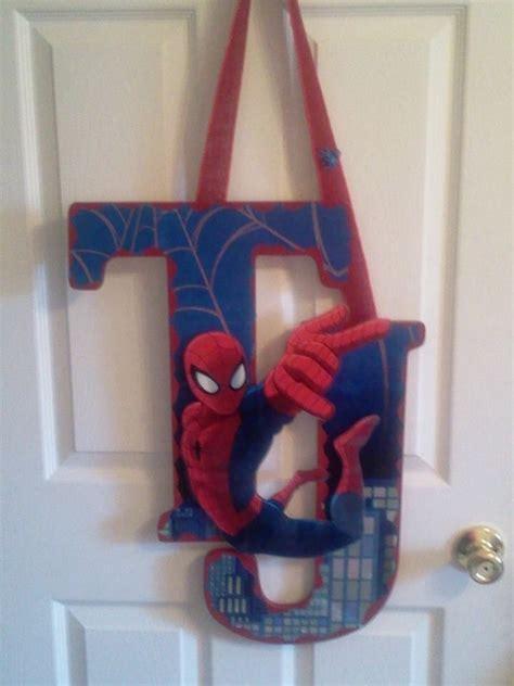 Spiderman Bedroom Ideas spider man wooden letters door hanger finished projects
